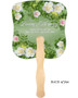 Garden Cardstock Memorial Church Fans With Wooden Handle back