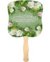 Garden Cardstock Memorial Church Fans With Wooden Handle front