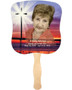 Glorify Cardstock Memorial Church Fans With Wooden Handle photo back
