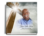 Eternal funeral guest book with photo