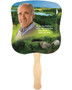 Golfer Cardstock Memorial Church Fans With Wooden Handle front photo