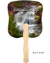 Graceful Cardstock Memorial Church Fans With Wooden Handle back