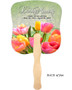 Harvest Cardstock Memorial Church Fans With Wooden Handle back