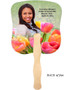 Harvest Cardstock Memorial Church Fans With Wooden Handle back photo