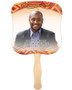 Impala Cardstock Memorial Church Fans With Wooden Handle front photo