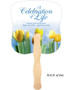 Inspire Cardstock Memorial Church Fans With Wooden Handle back