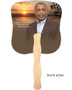 Kenya Cardstock Memorial Church Fans With Wooden Handle back photo