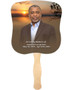 Kenya Cardstock Memorial Church Fans With Wooden Handle with photo