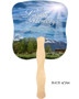 Outdoor Cardstock Memorial Church Fans With Wooden Handle back