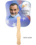 Patriotic Cardstock Memorial Church Fans With Wooden Handle photo back