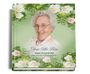 Garden funeral guest book with photo