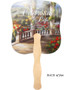Tuscany Cardstock Memorial Church Fans With Wooden Handle back