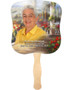 Tuscany Cardstock Memorial Church Fans With Wooden Handle front photo