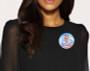 Air Force Memorial Buttons woman dress