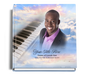 ivory personalized funeral guest book with photo