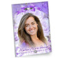 Amethyst In Loving Memory Beveled Glass Memorial Portrait