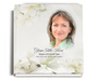 lily funeral guest book with photo