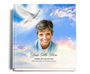 peace funeral guest book with photo