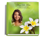 plumeria funeral guest book with photo