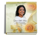 rejoice funeral guest book with photo