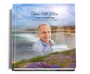 seascape funeral guest book with photo