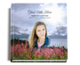 seasons funeral guest book with photo