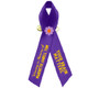 Alzheimer's Awareness Personalized Ribbon (Purple)