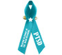Personalized PTSD Awareness Personalized Ribbon (Teal) - Pack of 10