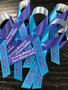 Personalized Suicide Awareness Ribbon (Purple/Teal) sample