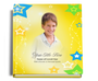 starry funeral guest book with photo