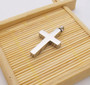 Stainless Steel Cross Urn Pendant Necklace
