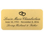 Personalized 1.5 x 3 Rounded Rectangle Metal Memorial Urn Plate