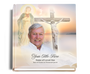 vision funeral guest book with photo
