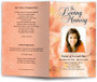 peach lavender funeral program template