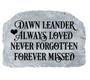 Personalized Always Loved Memorial Garden Stone