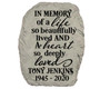 Personalized In Memory Memorial Garden Stepping Stone