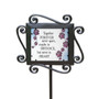 Together Forever Pet Inspirational Large Glass Garden Stake
