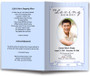 blue posy funeral program template