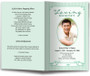 green posy funeral program template