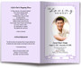 lavender posy funeral program template