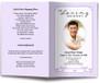 lavender posy funeral program template
