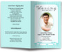 teal posy funeral program template