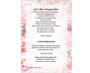 precious funeral program template back view