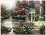Thomas Kinkade Garden of Prayer Funeral Program Paper