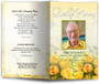 saffron funeral program template