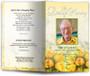 saffron funeral program template