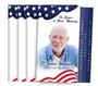 Star Spangled 8-Sided Graduated Fold Funeral Program Design & Print