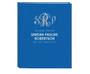 Glitter Triple Monogram Linen Cover Guest Book (Multi Colors)