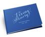 Scripted Elegance Landscape Linen Funeral Guest Book