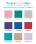 Vertical Script Linen Landscape Funeral Guest Book colors